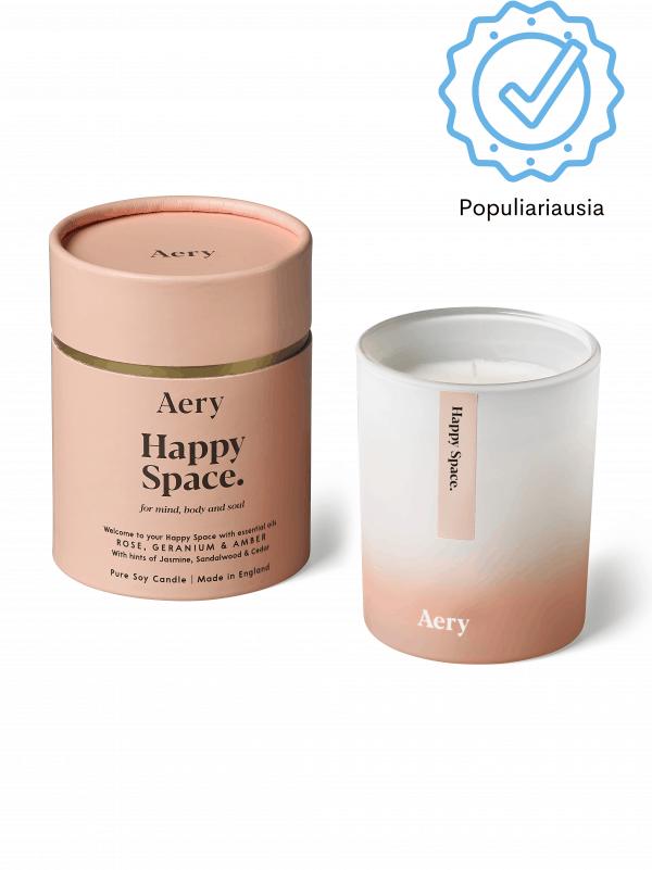 Aromaterapinė sojų žvakė su eteriniais aliejais natūrali