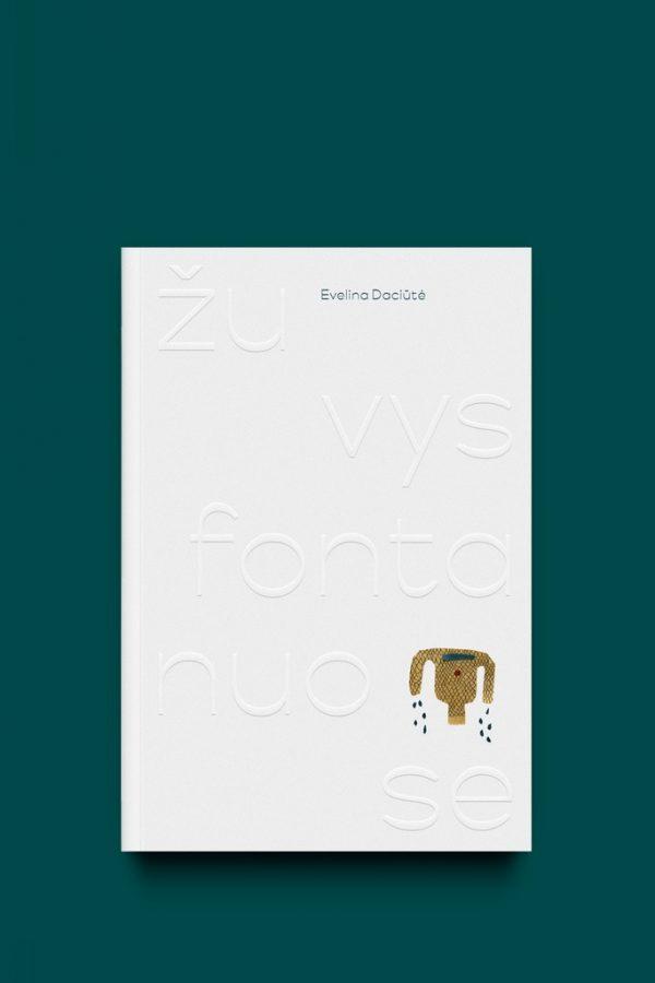 knygos žuvys fontanuose viršelis baltos spalvos