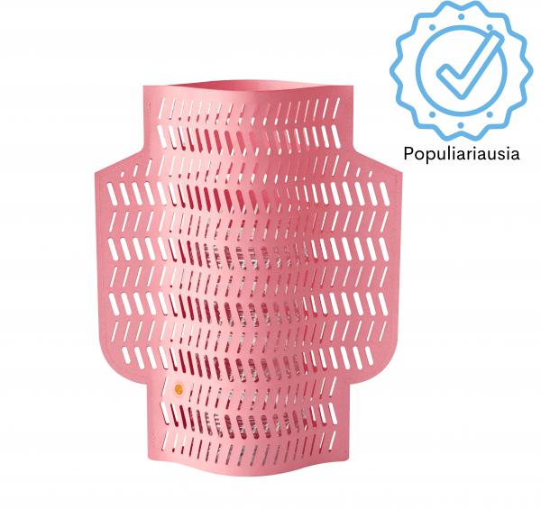 Interjero detalė rožinė popierinė vaza nebrangi dovana