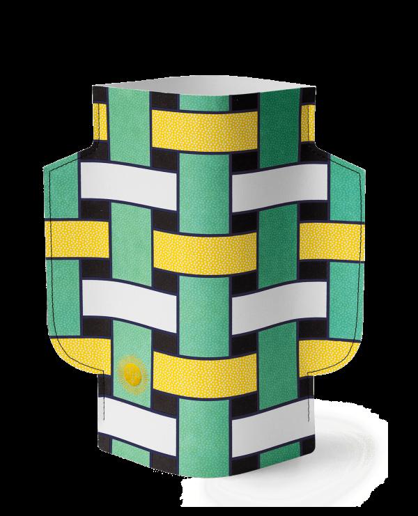 popierine geometrinio rasto vaza, isskirtinis modernus interjero aksesuaras, interjero detale, dovana, ideja dovana, dovana moteriai